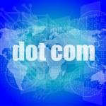 Words dot com on digital screen, information technology concept — Stock Photo #57710025