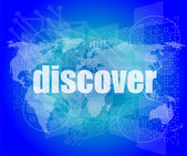 Social concept: word discover on digital background — Stock Photo