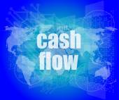 Business words cash flow on digital screen showing financial success — Stock Photo