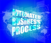 Business concept, automated business process digital touch screen interface — Stock Photo