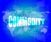 Commodity word on business digital touch screen — Stock Photo