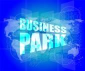 Business park interface hi technology — Stock Photo