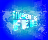 Finder fee word on digital touch screen — Stock Photo