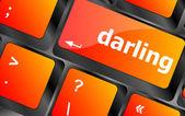 Darling-knappen på datorn pc klaviatur nyckel — Stockfoto