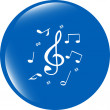 Music round glossy web icon on white background — Stock Photo #57771661