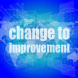 Business concept: words change to improvement on digital touch screen — Stock Photo #57773397