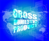 Business concept: word gross domestic product on digital screen — Stock Photo