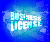 Business license on digital touch screen — Stock Photo