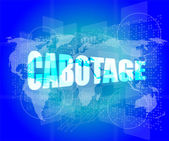 Cabotage word on digital touch screen with world map — Stock Photo
