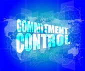Commitment control on digital touch screen — Stock Photo