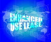 Management concept: enhanced use lease words on digital screen — Stock Photo