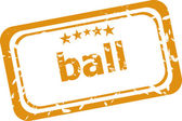 Ball word on rubber grunge stamp isolated on white — Foto de Stock