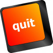 Quit button on black internet computer keyboard — Stock Photo #57933395