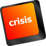Crisis risk management key showing business insurance concept — Stock Photo #57933605