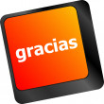 Computer keyboard keys with word Gracias, Spanish thank you — Stock Photo #57948651