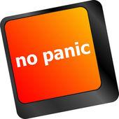 No panic key on computer keyboard - social concept — Stock Photo
