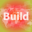 The word build on digital screen, business concept — Stock Photo #58305907
