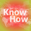 The word know how on digital screen, social concept — Stock Photo #58305933