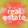 Real estate text on touch screen — Stock Photo #58308473