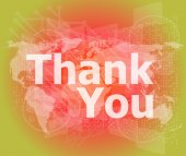 The word thank you on digital screen, social concept — Stock Photo