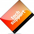 Social media concept: media player interface with tech support word — Stock Photo #58312033