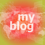 My blog - green digital background - Global internet concept — Stock Photo #58446473