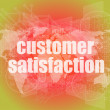 Marketing concept: words customer satisfaction on digital screen — Stock Photo #58447707