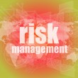 Management concept: words Risk management on digital screen — Stock Photo #58447769