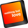 Computer keyboard key - nothing but love — Stock Photo #58448615