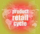 Prodejní cyklus - digitální dotykový displej rozhraní — Stock fotografie
