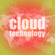 Words cloud technology on digital screen, information technology concept — Stock Photo #58759661