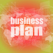 Management concept: business plan words on digital screen — Stock Photo #58759913