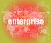 Business concept: enterprise words on digital screen, 3d — Stock Photo