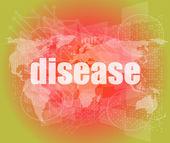 Sjukdomen ord på digitala gränssnitt pekskärm — Stockfoto
