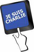Je Suis Charlie text on keyboard keys, movement against terrorism — Stock Photo