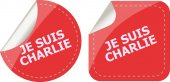 Je Suis Charlie text on web icon, movement against terrorism — Stock Photo