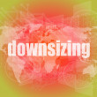 Business concept: words Downsizing on digital background — Stock Photo #64451793