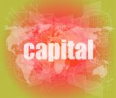 Touch screen interface with capital word — Stock Photo