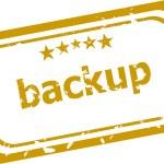 Backup stamp isolated on white background — Stock Photo #64469063