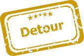 Detour stamp isolated on white background — Stock Photo