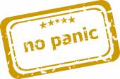No panic stamp isolated on white background — Stock Photo