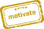 Motivate stamp isolated on white background — Stock Photo