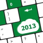 2013 new year keyboard key button close-up — Stock Photo #65096953