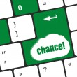 Chance button on computer keyboard key — Stock Photo #65108659