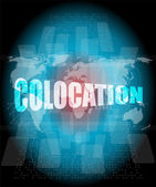 Colocation - media communication on the internet — Stock Photo
