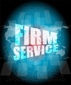 Firm service words on digital touch screen interface — Stock Photo