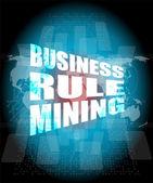 Affärsregel gruvdrift gränssnitt hej teknik — Stockfoto