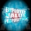 Management concept: employee value proposition words on digital screen — Stock Photo #65631121