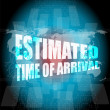 Estimated time of arrival words on digital screen — Stock Photo #65730237