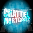 Marketing concept: words chattel mortgage on digital screen — Stock Photo #65736181